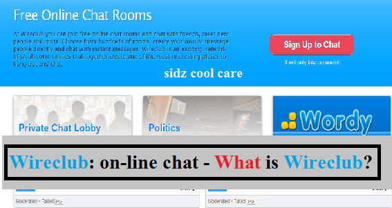 Wireclub: on-line chat - What is Wireclub?