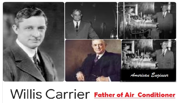 "Father of Air Conditioner ""Willis Havilland Carrier"" 