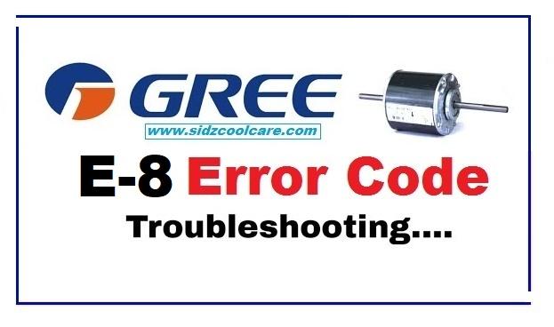 How to Fix E8 Error Code Gree Inverter Air Conditioner -2021