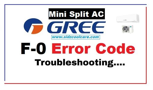 F0 Error Code Gree Mini Split Air Conditioner Troubleshooting |